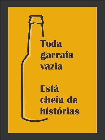 Quadro Decorativo frase cerveja Com Moldura E Vidro