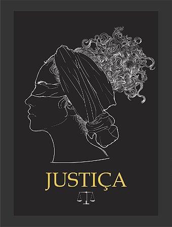 Quadro Justiça Direito com Moldura E Vidro