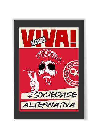 Quadro Viva Raul Sociedade Alternativa Moldura E Vidro