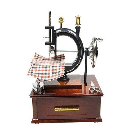Maquina De Costura Miniatura Caixa Musical Enfeite Decoração