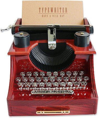 Máquina De Escrever Musical Miniatura A Corda Escritório