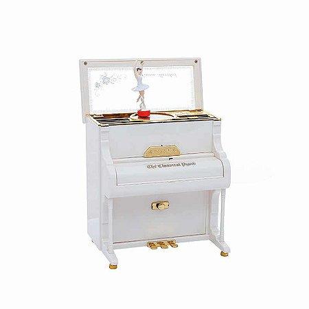 Piano Miniatura Musical Corda Decoração Bailarina  Boneca