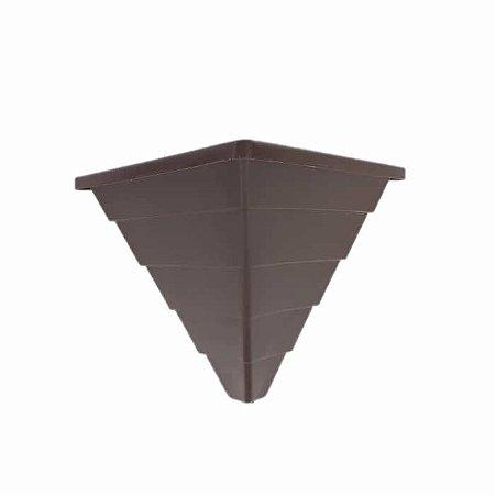 Vaso De Planta Parede Pirâmide Triangular Marrom Decoração