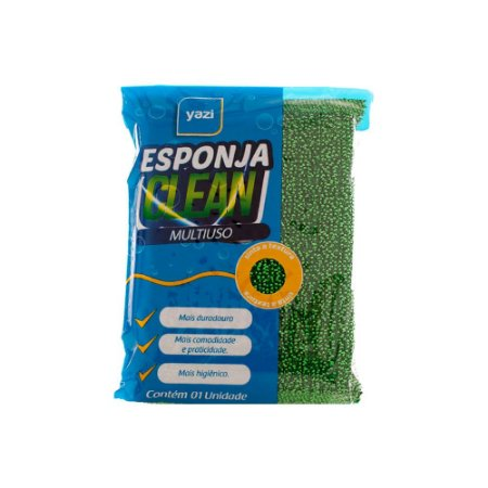 Esponja Multiuso C/ 5un Top Clean Gold Limpeza Super Durável