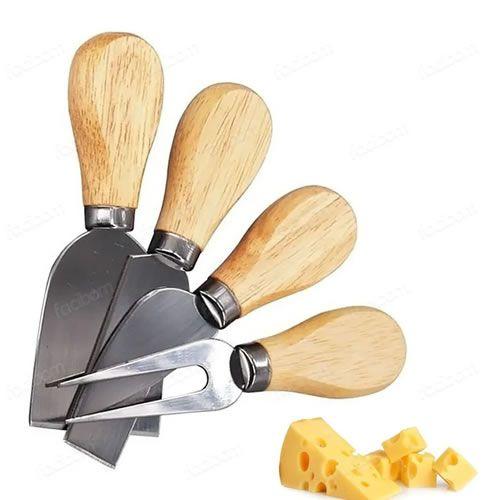 Conjunto De Utensílios Para Queijo Inox 4 Peças Gourmet Jogo