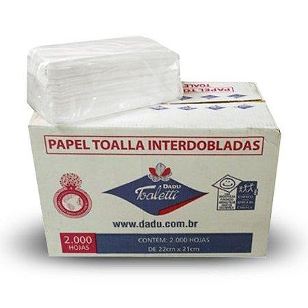 Toalha interfolha Dadu 22x21cm - Caixa com 2.000 folhas