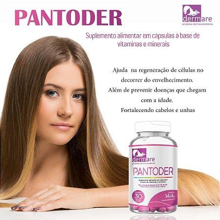 Pantoder Suplemento - Pele Cabelo e Unha 30 Cap. - Dermare