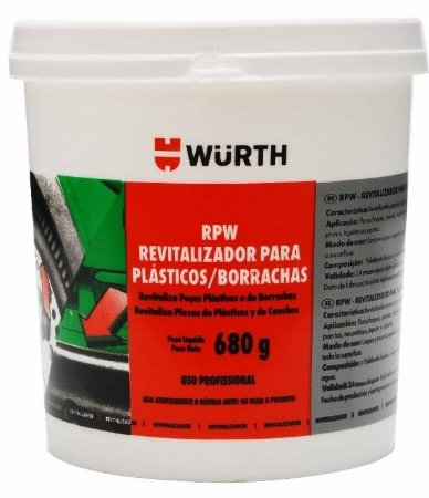 Wurth Revitalizador de plástico e borrachas RPW (680g)