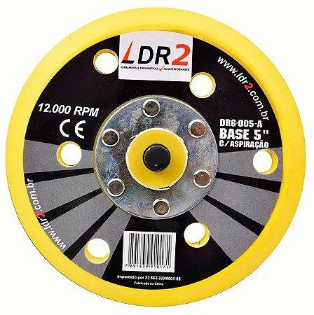 Suporte para Lixadeira Velcro 12000 Rpm Base 5 ou 6 Pol. DR6-006-A