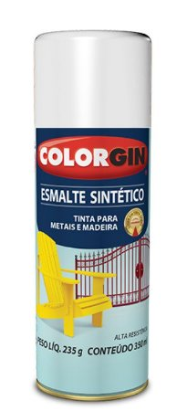 Colorgin Spray Esmalte Sintético Branco Gelo 739 (350ml)