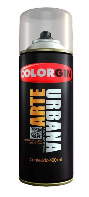 Colorgin Spray Arte Urbana Cinza Claro 934 (400ml)