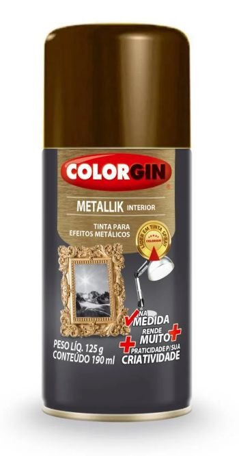 Colorgin Spray Metallik Bronze 555 (190ml)