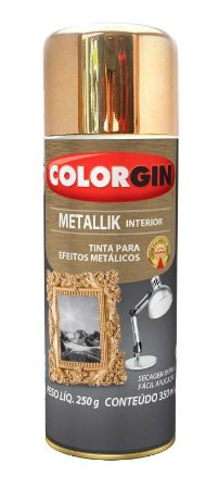 Colorgin Spray Metallik Dourado 57 (350ml)