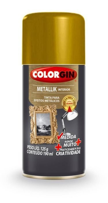 Colorgin Spray Metallik Ouro 552 (190ml)