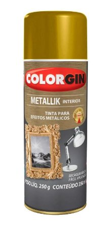 Colorgin Spray Metallik Ouro 52 (350ml)
