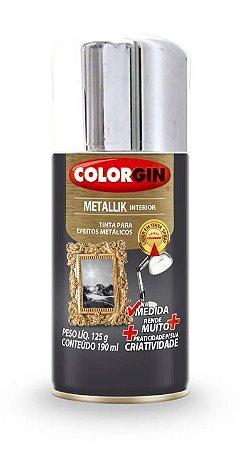 Colorgin Spray Metallik Cromado 551 (190ml)