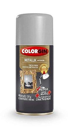 Colorgin Spray Metallik Prata 553 (190ml)