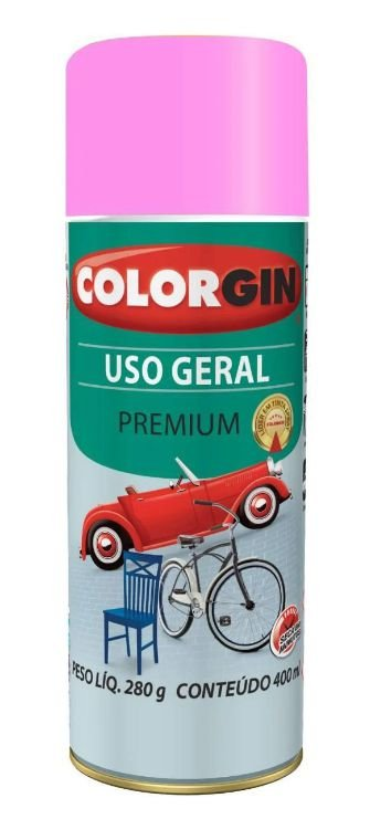 Colorgin Spray Uso Geral Rosa Gbr 56061 (400ml)