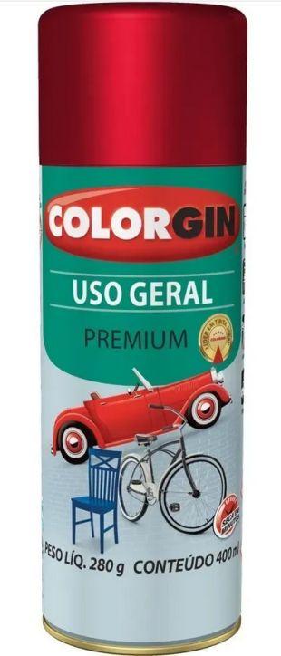 Colorgin Spray Uso Geral Vermelho Metalico 57141 (400ml)