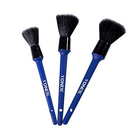 Vonixx Kit de Pincéis para Limpeza Detalhada Ultra Macio (3 unidades)