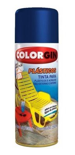 Colorgin Tinta Spray p/ Plasticos Azul Oceano (350ml)