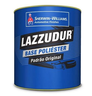 Lazzudur Tinta Poliester Prata Polaris Met Gw  (900ml)