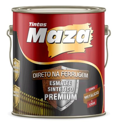Maza Esmalte Direto Ferrugem Preto (3,6ml)