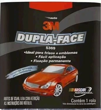 Fita Dupla Face 12x3M Automotivo