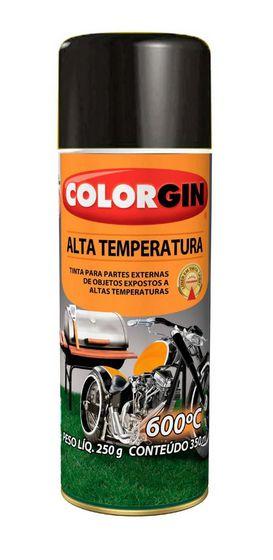 Colorgin Tinta Spray Alta Temperatura Preto (350ml)
