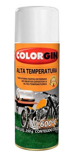 Colorgin Tinta Spray Alta Temperatura Branco (350ml)