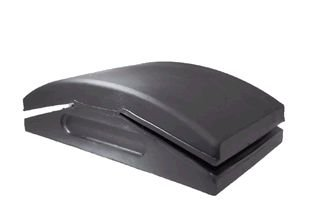 """Purplex Taco Lixador Manual """"Grande"""" de Borracha com Aba 122mm x 65mm"""