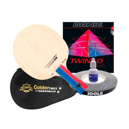 Loky Carbon + Donic Twingo + Capinha Golden + cola 20ml + side tape
