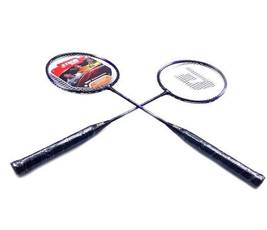 Raquete Badminon DHS 1010 - Kit com 2 raquetes alumínio