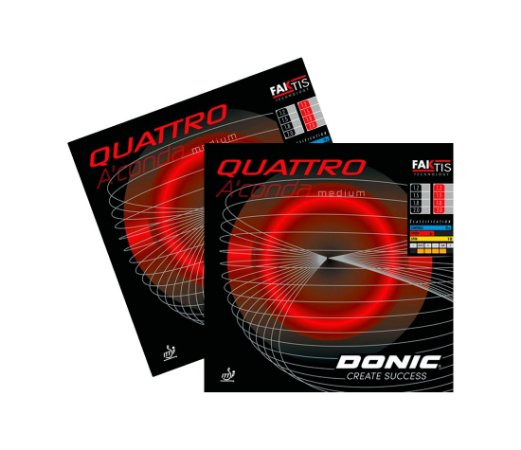 Kit 2 Borrachas Donic Quattro Medium