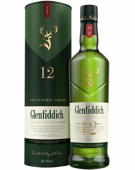 WHISKY GLENFIDDICH 12 ANOS SINGLE MALT 750ML