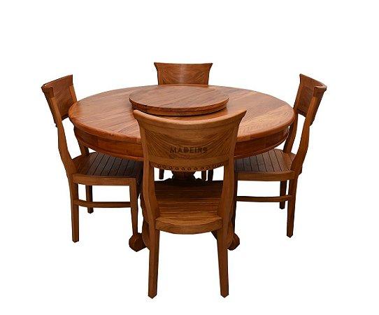 Jogo de Mesa Pé Torneado com 4 Cadeiras