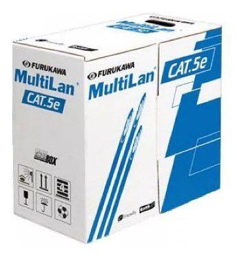 CABO TRANSMISSAO DE DADOS MULTILAN FLEX U/UTP 24AWG(7F)X4P CAT.5E AZ - (CAIXA 305M)