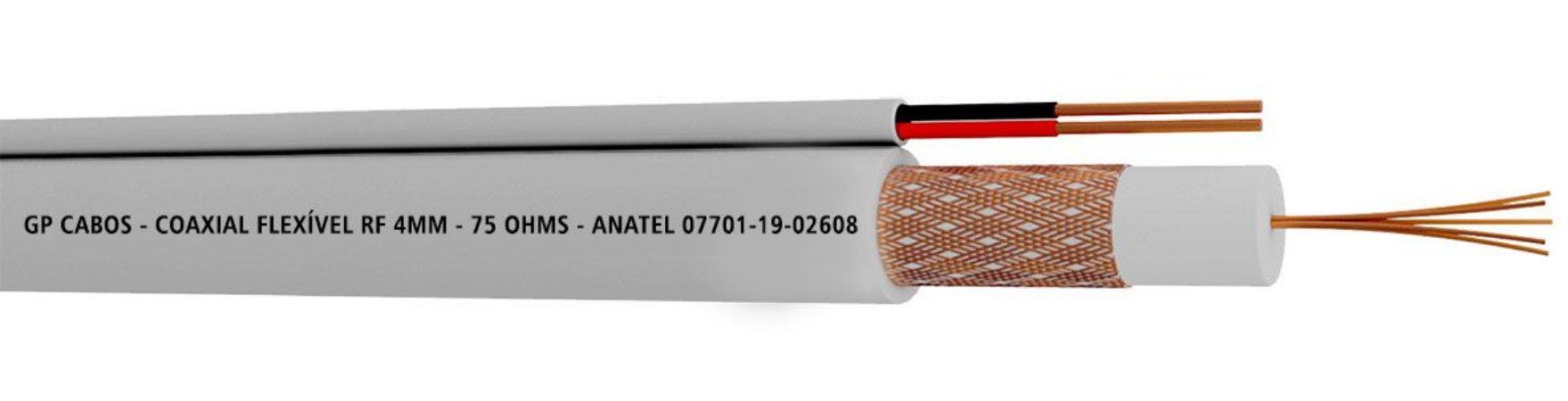 CABO COAXIAL RF 0,4/2,5 + 2X26AWG - (RL100)