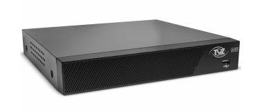 DVR STAND ALONE HIBRIDO (1UN) + CAMERA BULLET HIB IR25M 1MEGA 800TVL LENTE HD3.6MM (2UN)