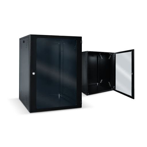 RACK 6U X 470MM PRETO PORTA VIDRO - CARTHOMS