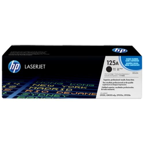 TONER HP CB540A CB540AB 125A PRETO/BLACK  | CP1215 CP1515 CP1518 CM1312 | ORIGINAL 2.2K