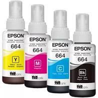 TINTA EPSON T664120AL T664120 T664 PRETO | L200 L220 L110 L355 L555 L396 L455 L365 | ORIGINAL 70ML