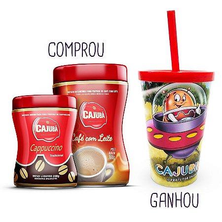 PROM. Compre 01 Cappuccino Cajubá + 1 Café com Leite Cajubá e GANHE 01 Copo Cajubinho 350ml