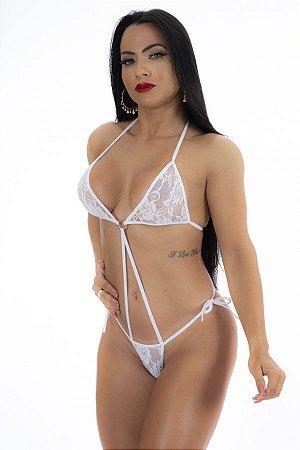 Mini Body Sensual Argola Branco
