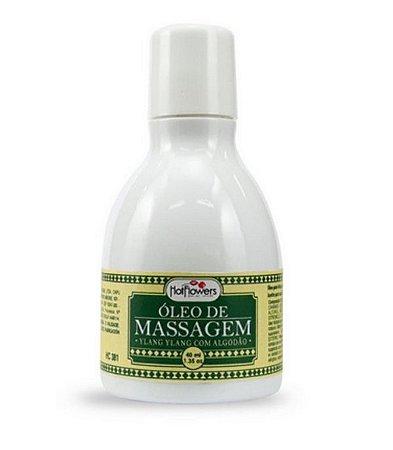 Óleo de Massagem Corporal Ylang Ylang com Algodão - Efeito Hot 40ml