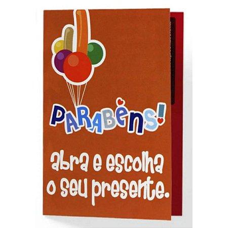 Cartão de Parabéns Abra e Escolha