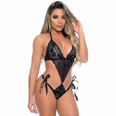 Body Sexy em Renda com Fita