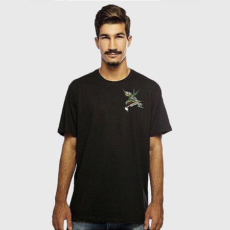 Camiseta Masculina Preta Manga Curta Hope Hardivision