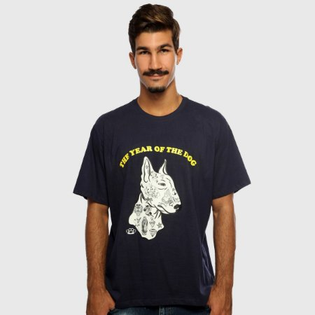 Camiseta Masculina Azul Manga Curta The Dog Hardivision