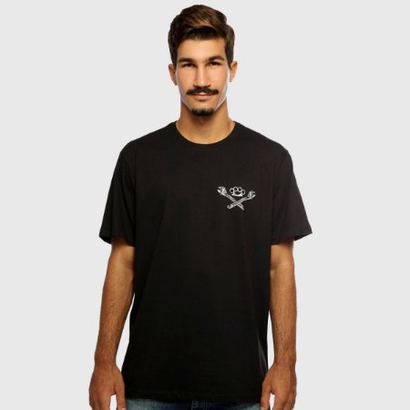Camiseta Masculina Preta Manga Curta Mechanics Hardivision